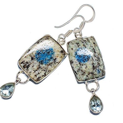 k2-blue-azurite-925-plata-de-ley-pendientes-2