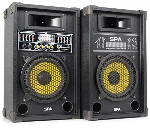 SkyTec SPA800Y PA Lautsprecher Party Lautsprecher Boxen-Paar (20cm (8