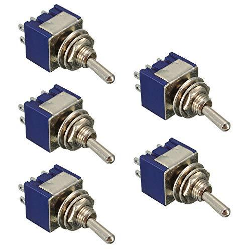 Mintice/™ Interrupteur /à Bascule Commutateur 7 Broches Momentan/é Lampe Lumi/ère LED Bleu 12V 20A pour Voiture Bateau Moto Winch in out
