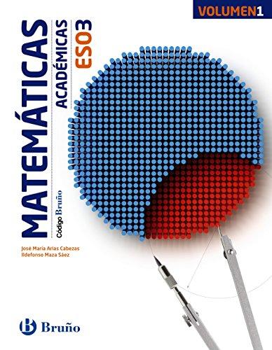 Código Bruño Matemáticas Académicas 3 ESO3 volúmenes