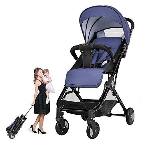 NBZH Baby Stroller Falten Pushchair Leichtgewicht Baby Travel Buggy kann in der Plane Sein,Blue
