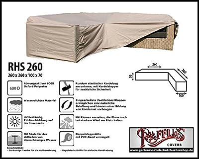 RHS260 Loungemöbel Abdeckhaube für L-Form, passt am besten am Set von max. 255 x 255 cm. von Raffles Covers auf Gartenmöbel von Du und Dein Garten