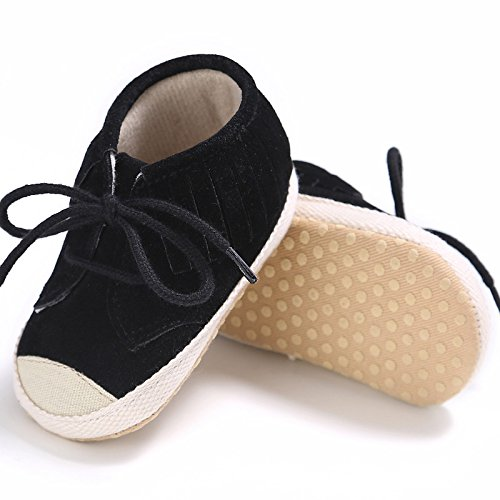 Hunpta Baby Mädchen Bandage Quasten weiche Sohle Schuh weiche Schuhe Flats Schuhe Schwarz