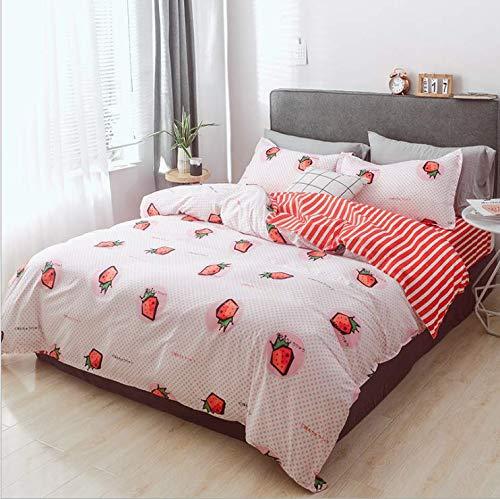 SHJIA Bettwäsche Set Bettbezug Set Kissenbezüge Heimtextilien Bettwäsche Tröster Feinstfaser Bettwäsche Set Bettwäsche Weiß 220X240Cm -