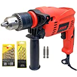 Cheston 13mm Impact Drill Machine Reversible Hammer Driver Variable Speed Screwdriver (Drill with BITS for Drilling and Screwdriver)