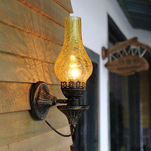 Retro-Lampe/Bar Balkon Gang Wand Lampe Schlafzimmer Antik Eisen/Wall Wandleuchte