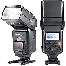Neewer NW680 / TT680 HSS Flash Speedlite - Flash de cámara E-TTL para Canon 5D MARK 2 6D 7D 70D 60D 50DT3I T2I y otras cámaras Canon DSLR, Negro
