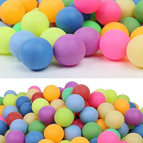 Rikey 100 Stücke Farbige 40mm 2,4g Unterhaltung Multipul Farbtabelle Ping Pong Bälle, Kunststoff Tischtennisball für Spiel und Werbung