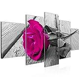 Bild 200 x 100 cm - Rose Bilder- Vlies Leinwand - Deko für Wohnzimmer -Wandbild - XXL 5 Teilig Teile - leichtes Aufhängen- 800651a