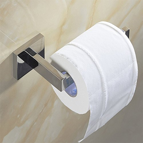weare Home puerta rollo papel higiénico acero inoxidable Metal cromado espejo pulido 16* 7,5* 5,5cm-dérouleur papel Accessoirs WC, Déco pared WC, dispensador papel wc-accessoire baño Salles de baño