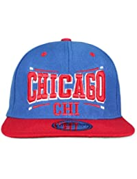 Original Snapback (one size, Chicago Square Royal Blau / Rot) + Original MY CHICOS Sticker