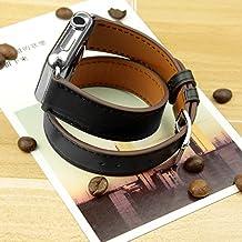 Apple Watch Band Wollpo®Apple Osservare Cuff Band, Apple Osservare fascia di cuoio, fascia di cuoio genuino cinturino in pelle Bracciale con l'adattatore per Apple