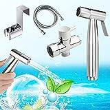 Bidet Handbrause,Yegu Handheld Bidet Spritze aus Messing Edelstahl für Toilette,für optimale...