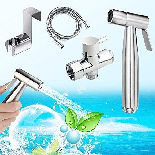 Bidet Handbrause,Yegu Handheld Bidet Spritze aus Messing Edelstahl für Toilette,für optimale persönliche Hygiene,Bidet-Armaturen für WC,Waschen Windel Dusche Test