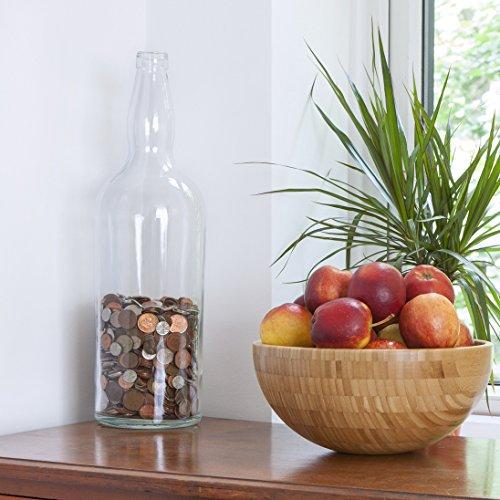 Botella de monedas de vidrio vintage de 20 '
