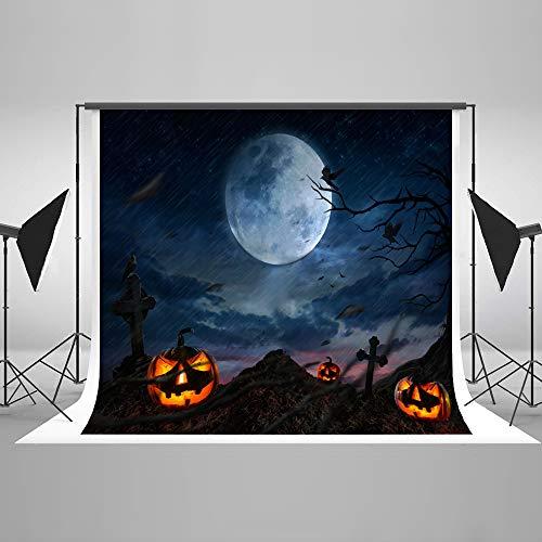 KateHome PHOTOSTUDIOS 3x2m Halloween-Foto-Hintergrund-Halloween-Kürbis-Finanzanzeigen-Hintergrund für Horror-Halloween-Thema-Dekoration