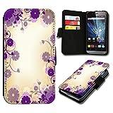 Book Style HTC Desire 500 Premium PU-Leder Tasche Flip