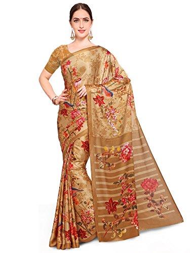 Saree mall Women\'s ART SILK Saree With Blouse (FSP122-D_Gold_Free Size)