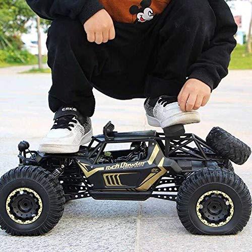 Kikioo 1:10 High Speed   Geländewagen Monster Truck All Terrain Rennwagen Riese 2,4 GHz Funkfernbedienung RC Hobby Elektro Fast Rock Crawler Große Füße Legierung 4WD Driften Klettern Autos Hobby Gesch