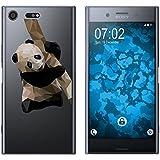 PhoneNatic Case für Sony Xperia XZ Premium Silikon-Hülle Vektor Tiere M4 Case Xperia XZ Premium Tasche + 2 Schutzfolien