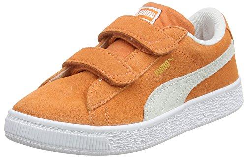 Puma Unisex-Kinder Suede Classic V PS Sneaker, Orange (Melon White), 30 EU