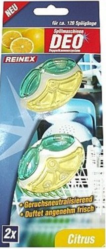 REINEX Packung 2er Geschirrspüler-Deo Spülmaschinenduft flüssig citro-fresh