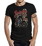 Rockabilly T-Shirt original GASOLINE BANDIT® Design: Rockabilly Lives Forever! Farbe schwarz Größe L