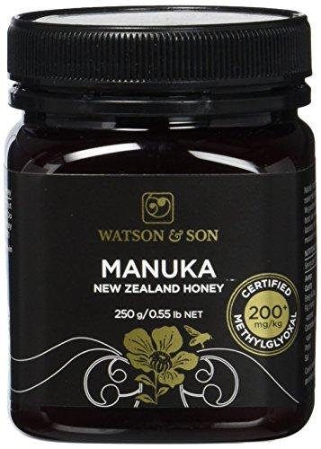 Watson & Son Manuka Honig MGO 200+ 250g   Zertifizierte Premium Qualität aus Neuseeland