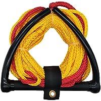 Jranter Water - Cuerda de esquí con Mango de Radio y empuñadura EVA, Color Amarillo, Unisex Adulto, Amarillo, 70 Feet