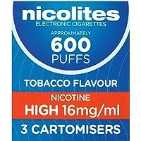 NICOLITES Cartomiser Tabakgeschmack (3 enthalten) High Strength 16 mg/ml - preisvergleich