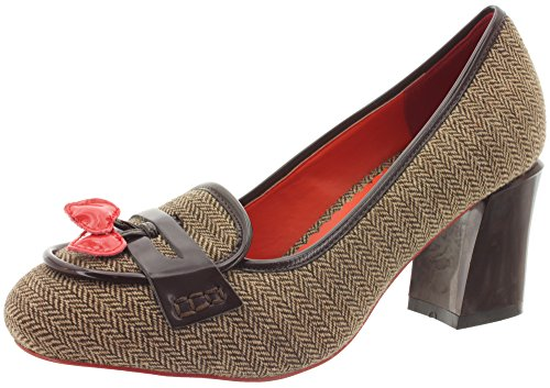 Dancing Days, Scarpe col tacco donna Tweed marrone