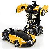 Transformator klein Roboter Auto (Gelb)