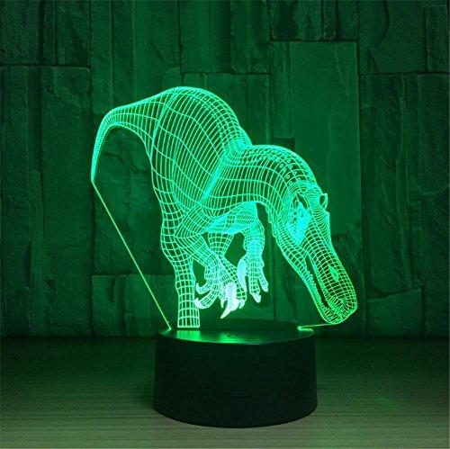 3D Lampe LED Nachtlicht 7 Farbwechsel USB Touch-Taste Und Intelligente Fernbedienung Schreibtisch Tischbeleuchtung Schönes Geschenk Home Office Dekorationen Spielzeug (Shark Tooth Dragon) (Dragon Touch-lampe)
