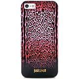 Puro Just Cavalli - Carcasa para iPhone 5/5S, diseño de estampado de leopardo, color rojo
