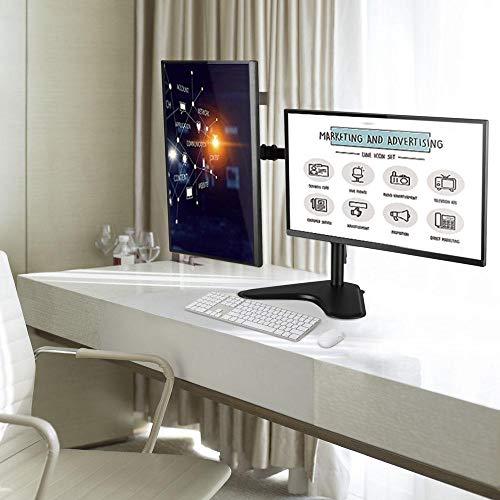 Yolkvisual Dual Monitor Tischhalterung mit Standfuß, 81,3 cm