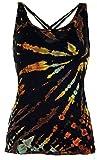 Guru-Shop Batik-Top, Tie Dye Top, Damen, Schwarz, Viskose, Size:38, Tops, T-Shirts, Shirts Alternative Bekleidung