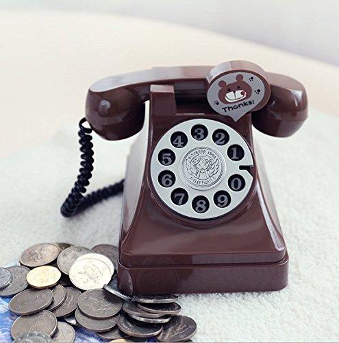 Speedmar Geldbank Kunststoff Retro Telefon Sparschwein Kreative Kind Geschenk Student Münze Geld...