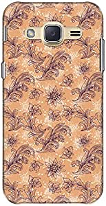 The Racoon Grip printed designer hard back mobile phone case cover for Samsung Galaxy J2. (Purple Pre)