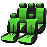 SITU universal Auto Schonbezug Komplettset Sitzbezüge für Auto aus Kunstleder schwarz/grün SCSC0090