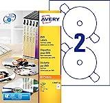 Avery 40 Etiquettes pour CD/DVD  - Ø117mm - Impression Laser - Blanc (L7860)