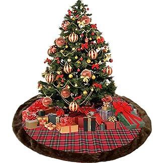 XONOR – Falda de Felpa para árbol de Navidad, 99 cm, decoración para el hogar, Navidad, Fiesta