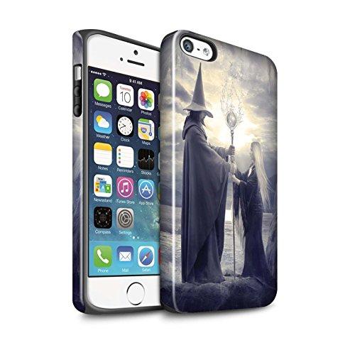 Officiel Elena Dudina Coque / Brillant Robuste Antichoc Etui pour Apple iPhone 5/5S / Pack 6pcs Design / Magie Noire Collection Maestro/Sorcier