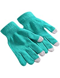 Demarkt unisex Damen Herren strick warm winter Herbst mit Touchfunktion Handy Gloves Handschuhe für Touchscreen Touch Handy Smartphone