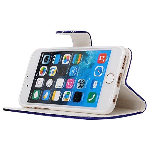 MOONCASE Étui pour Apple iPhone 6 / 6S (4.7 inch) Printing Series Coque en Cuir Portefeuille Housse de Protection à rabat Case Cover ZD13 ZD06 #1230