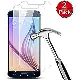 2 x Samsung Galaxy S6 Film Protection Ecran en Verre Trempé, Melojoy Protection écran en Verre Trempé pour Samsung Galaxy S6