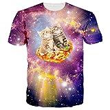 RAISEVERN Unisex 3D Nette Baby - Katzen gedruckt Kurzarm Rundhals T-Shirts T - Shirts X-Large