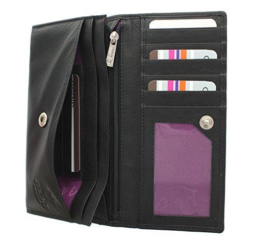 Portafoglio di pelle Mala Leather. Collezione ORIGIN - con protezione RFID 3272_5 Verde Nero