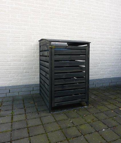 Mülltonnenbox für eine Tonne, Holz Anthrazit