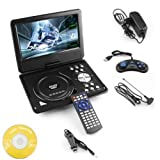 #4: DVD Player Portable 9.8 3D EVD with USB Playback TFT Swivel Flip Screen Game + MP3 + Card Reader Support + 3D Support WireShop