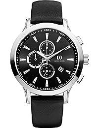 Danish Designs DZ120295 - Reloj de cuarzo para hombre, correa de cuero color negro